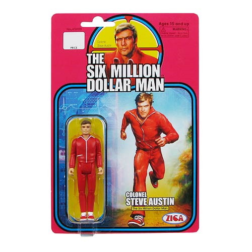Six Million Dollar Man Col. Steve Austin Retro Action Figure