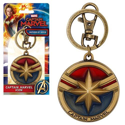Captain Marvel Pewter Key Chain