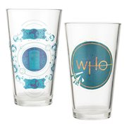 Doctor Who 16 oz. Laser Decal Glass 2-Pack