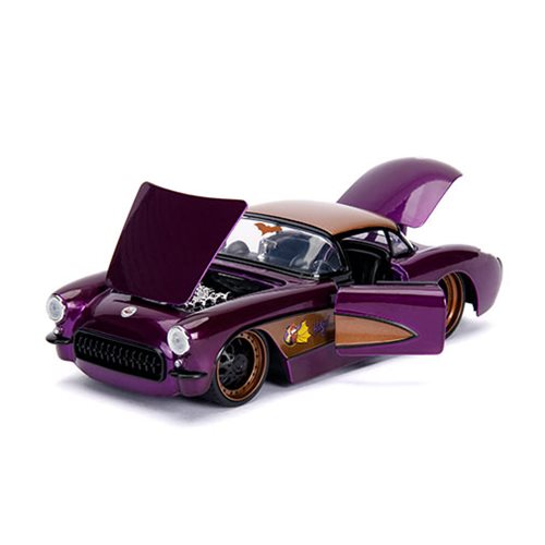 DC Bombshells Batgirl 1957 Chevy Corvette 1:24 Scale Die-Cast Metal Vehicle