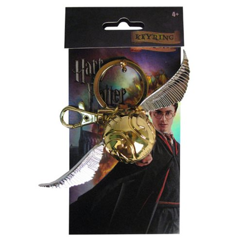 Harry Potter Golden Snitch Pewter Key Chain