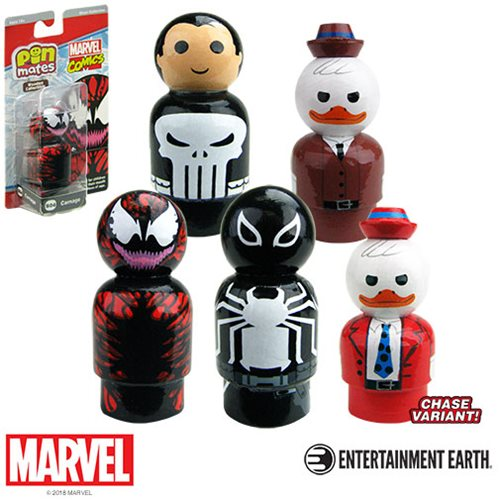 Marvel Pin Mate Wooden Figure Silver Wave 1 Case