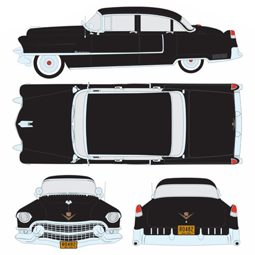 The Godfather 1955 Black Cadillac Fleetwood Series 60 Special 1:43 Scale Die-Cast Metal Vehicle
