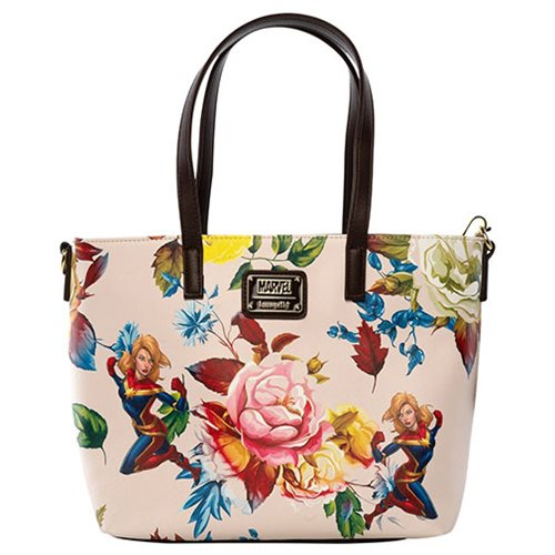 Captain Marvel Floral Loungefly Tote