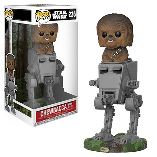 Star Wars Chewbacca in AT-ST Deluxe Pop! Vinyl #236, Not Mint