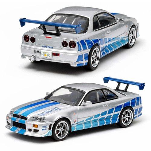 2 Fast Furious 1999 Nissan Skyline GT R R34 118 Scale Die Cast Metal Vehicle