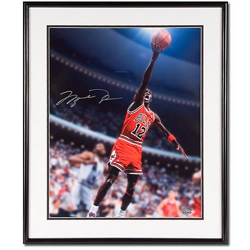 new styles 88606 36224 Michael Jordan Signed Number 12 Red Jersey Framed Photo