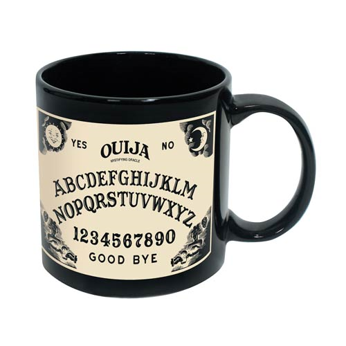 Ouija Board 20 oz. Black Ceramic Mug