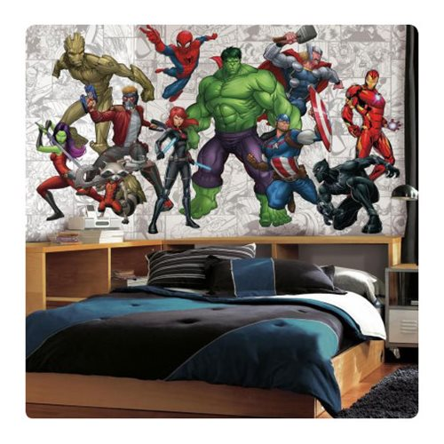 Marvel Hero XL Chair Rail Prepasted Mural
