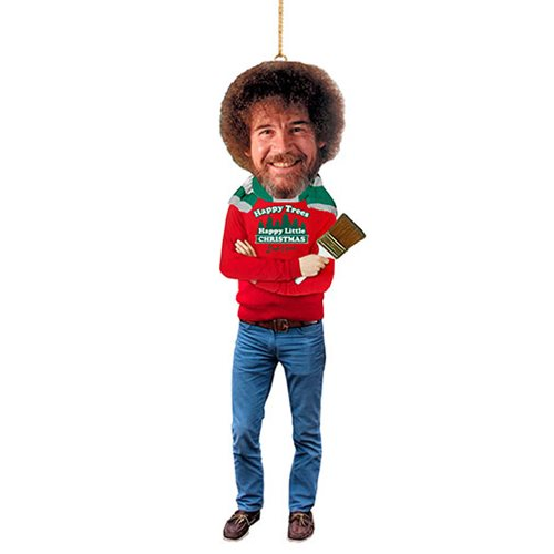 Bob Ross 5-Inch Blow Mold Figural Ornament