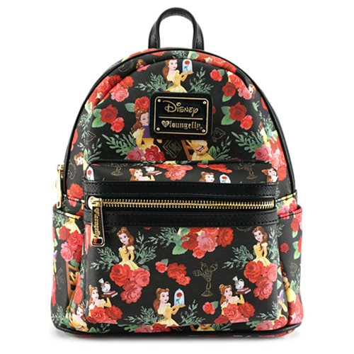 Beauty and the Beast Belle Rose Print Mini-Backpack