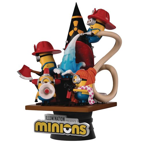 Minions Fire Fighter D-Stage DS-049 6-Inch Statue