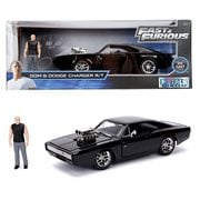 Hollywood Rides Fast and the Furious Dodge Charger 1:24 Scale Die-Cast Metal Vehicle with Dom Figure