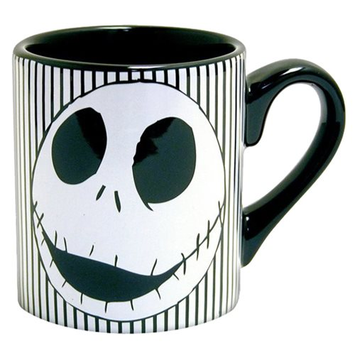 The Nightmare Before Christmas Jack Skellington Face 14 oz. Ceramic Mug