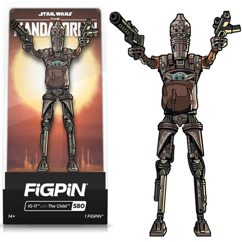 Star Wars: The Mandalorian IG-11 with The Child FiGPiN Classic Enamel Pin