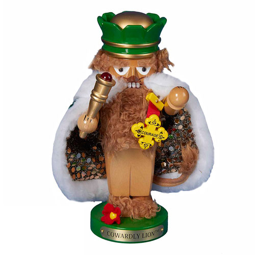 The Wizard of Oz Cowardly Lion Chubby Oz 11-Inch Nutcracker