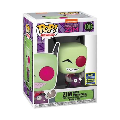 Invader Zim with Minimoose Pop! Vinyl Figure - 2020 Convention Exclusive