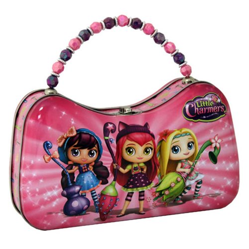 Little Charmers Scoop Purse with Beaded Handle Tin Tote