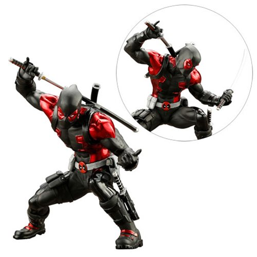 Deadpool Black Suit ArtFX+ Statue - Global Holdings Exclusive