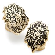 Lion King Pair Gold Cufflinks