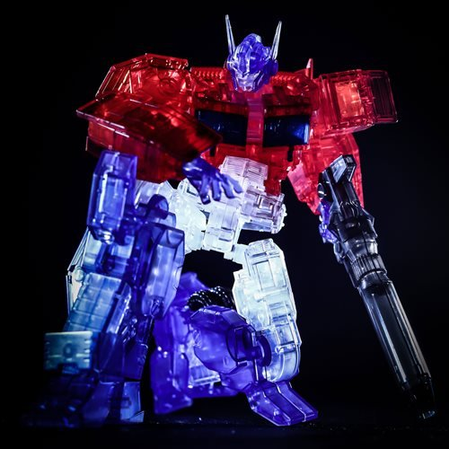 Transformers Optimus Prime IDW Clear Version Furai Model Kit - Event Exclusive