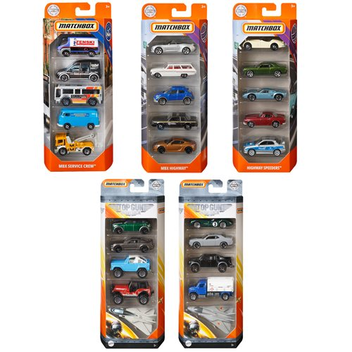 Matchbox Car Collection 5-Pack Mix 4 Revision 1 Case