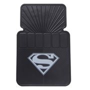 Superman Silver Logo Floor Mat 2-Pack
