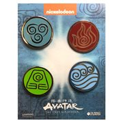 Avatar: The Last Airbender Elemental Bending Arts Enamel Pin Set