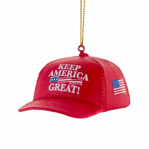Donald Trump Keep America Great Hat 1 3/4-Inch Resin Ornament