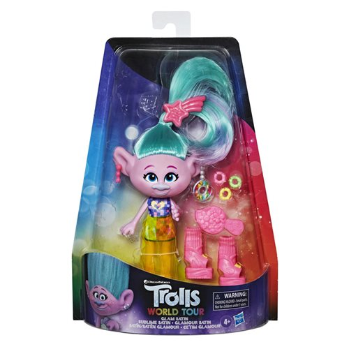 Trolls World Tour Deluxe Fashion Dolls Glam Satin