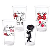Disney Minnie Mouse 16 oz. Glass 4-Pack