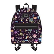 Pokemon Ghost Type Print Dark Purple Mini Backpack