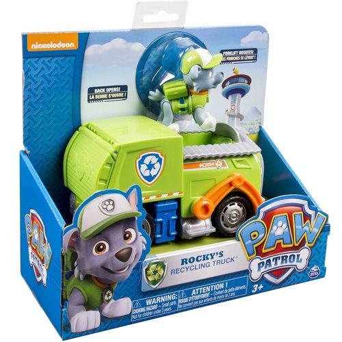 Paw Patrol Recycling Truck Vehicle with Rocky