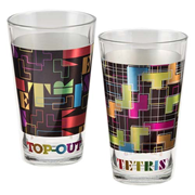 Tetris 16 oz. Laser Decal Glass 2-Pack
