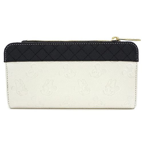 Mickey and Minnie Mouse Quilted Flap Wallet