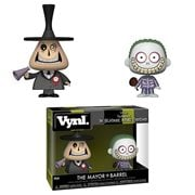Nightmare Before Christmas Mayor and Barrel VYNL Figure 2-Pack