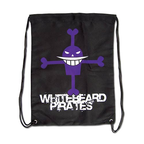 One Piece Whitebeard Pirates Drawstring Bag