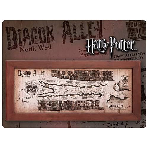 Harry Potter Diagon Alley Map Framed Replica - Entertainment Earth