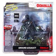 Johnny Lightning Godzilla Façade with Willys MB Jeep Diorama