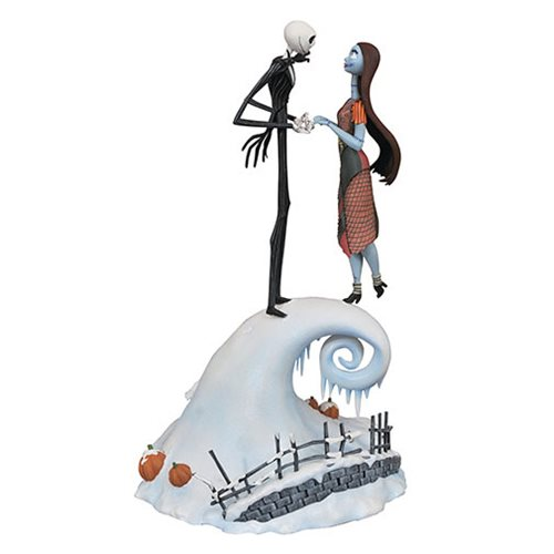 Nightmare Before Christmas Milestones Jack and Sally Statue