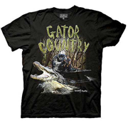 Swamp People Gator Country Black T-Shirt