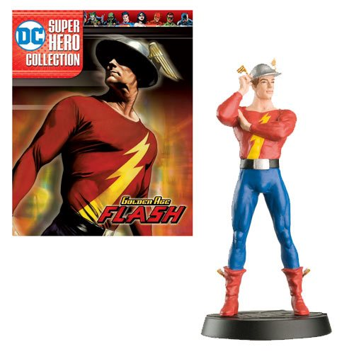 DC Superhero Best Of Figure Collection Golden Age Flash with Magazine #54