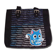 Fairy Tail Happy Cat Black Tote Bag