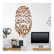 Star Wars Chewbacca Typographic Peel and Stick Giant Wall Decals