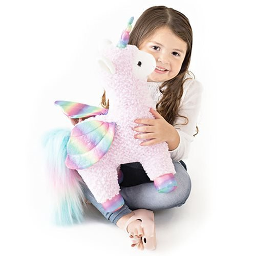 Rainbow Sparkles Llamacorn with Wings 15 1/2-Inch Plush
