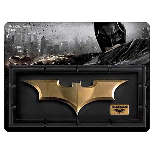 Batman Dark Knight Rises Batarang Prop Replica with Display