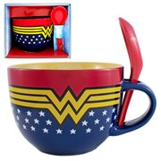 Wonder Woman Soup Mug with Spoon
