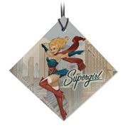 DC Bombshells Supergirl StarFire Prints Hanging Glass Ornament