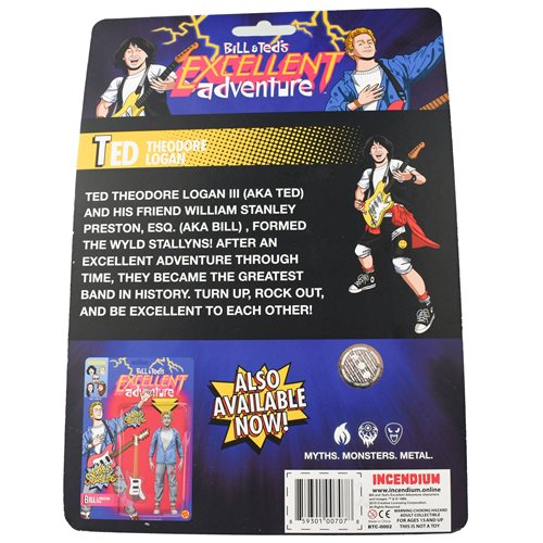 Bill & Ted's Excellent Adventure Ted Theodore Logan III 5-Inch FigBiz Action Figure