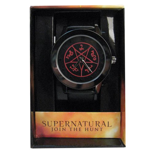 Supernatural Devil's Trap Red Pentagram Dial Strap Watch